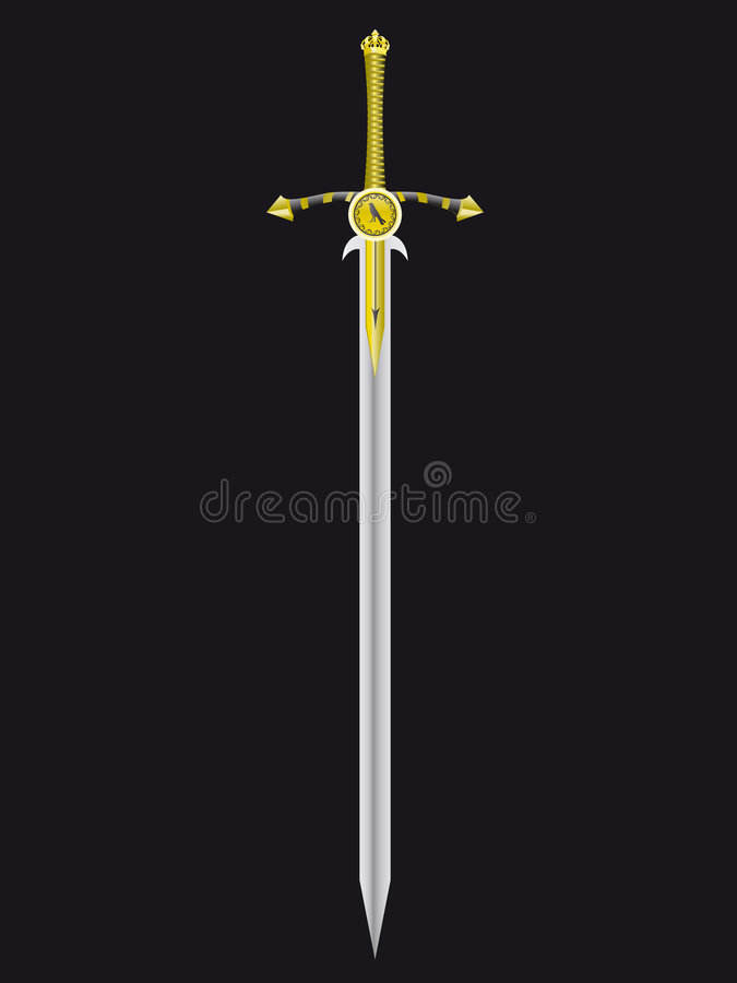 Sword of the king vector illustration