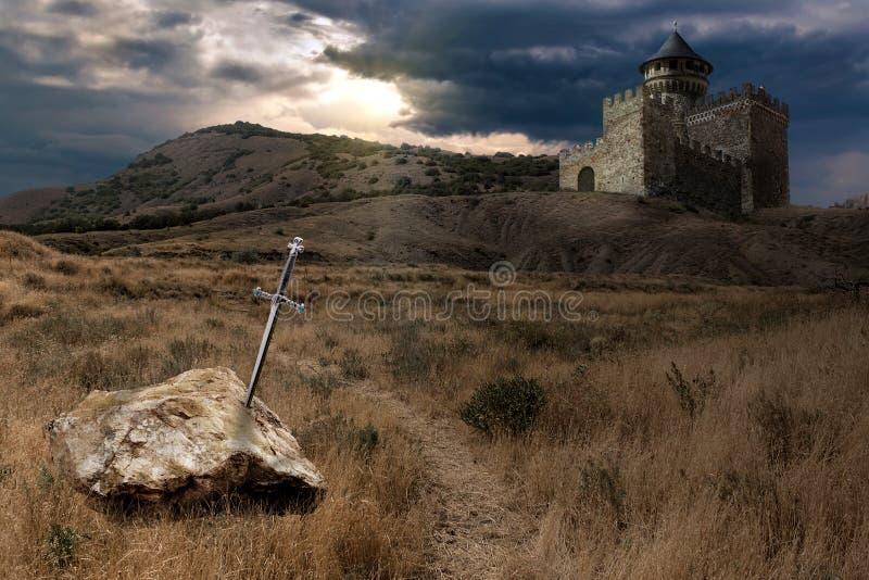 Sword of King Arthur stock photo