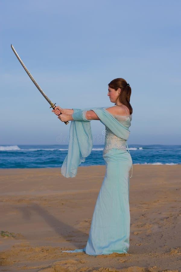 Sword Lady stock photo