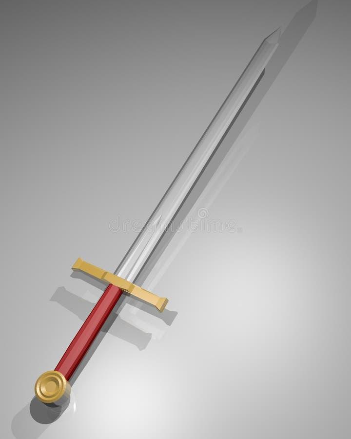 Download Sword render stock illustration. Image of creative, polygon - 41685013