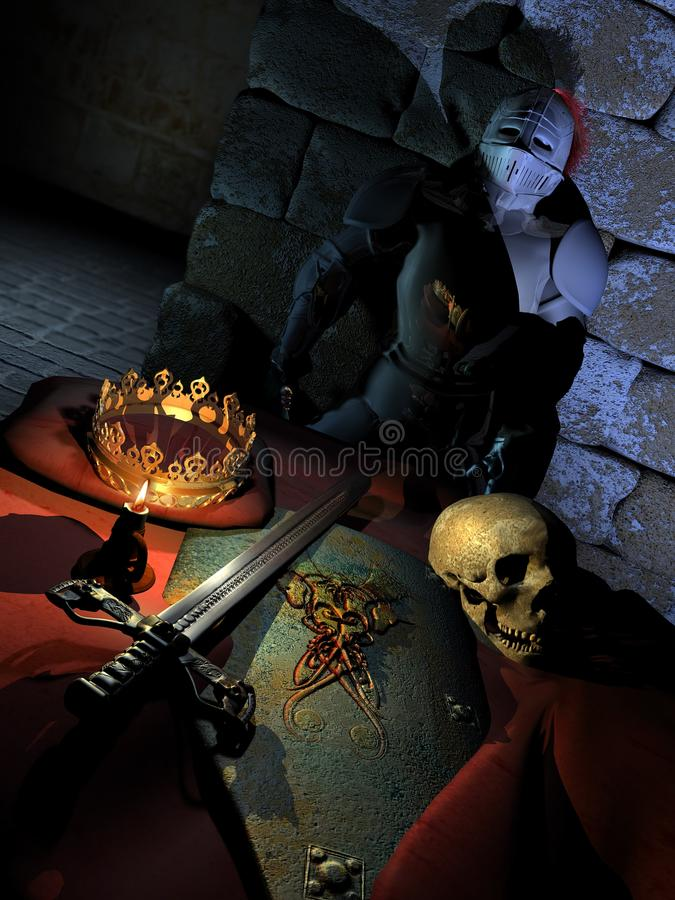 The king`s room stock illustration