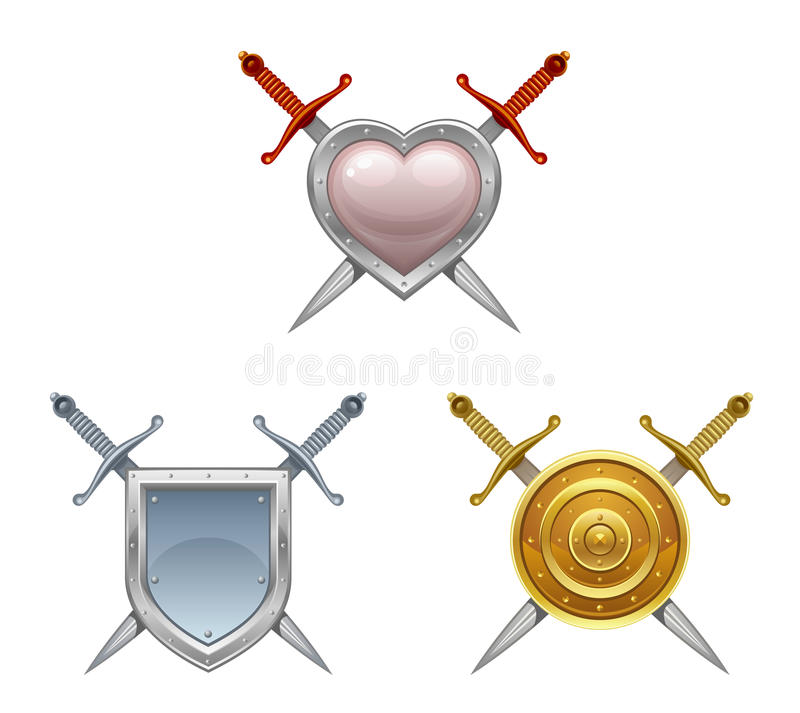 Sword and shield vector illustration