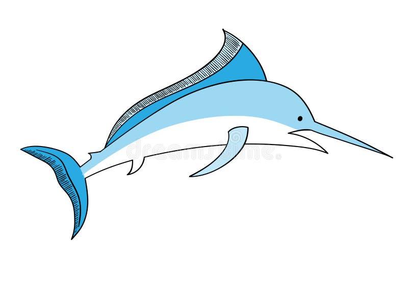 swordfish royaltyfri illustrationer