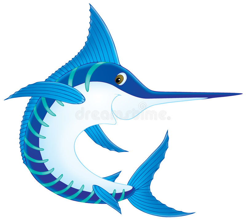 swordfish vektor illustrationer