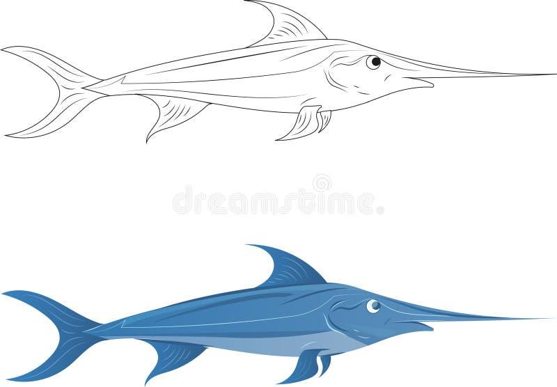 swordfish illustrazione vettoriale