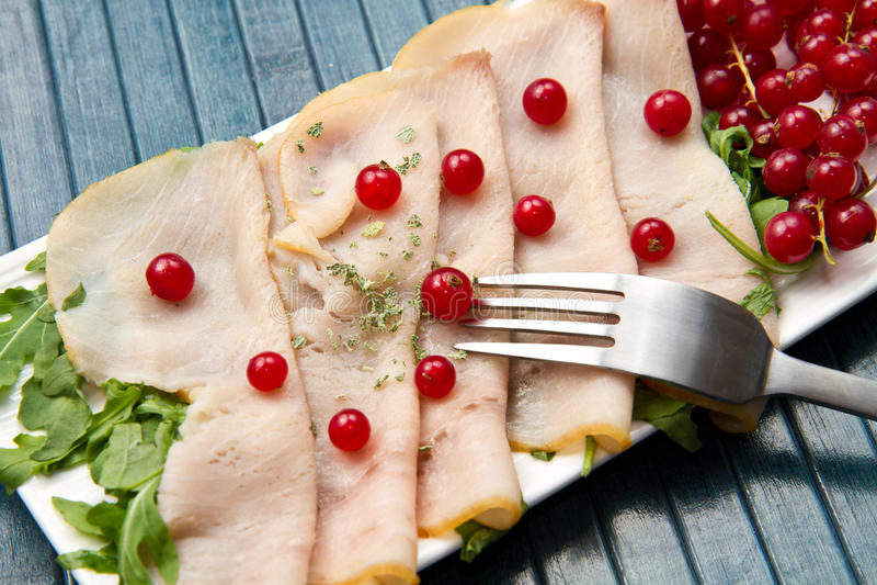 Swordfish carpaccio stock photo