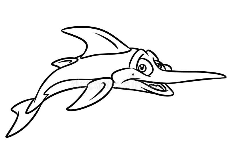 Download Swordfish Coloring Page Cartoon Illustrations Stock Illustration
