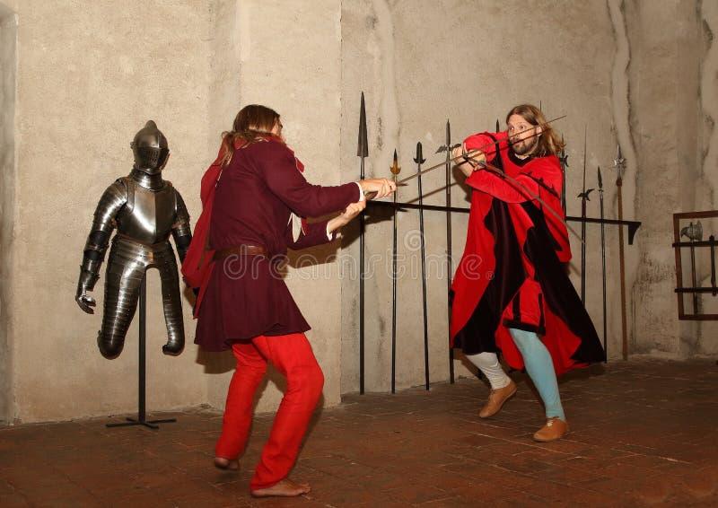 Swording Fighters stock image