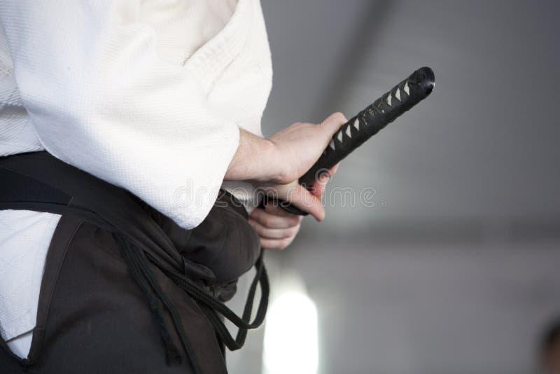 Swordplay de Shinkendo fotografia de stock royalty free