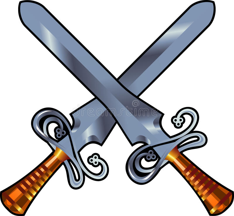 Swords Cross Royalty Free Stock Photography
