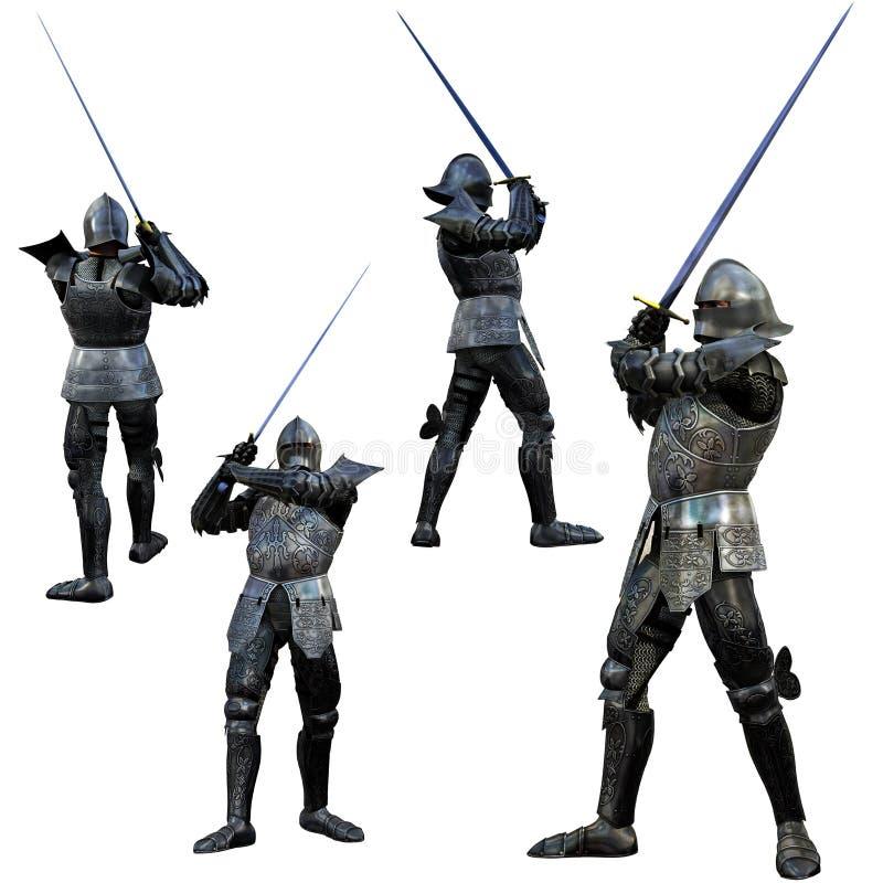 swordsman рыцаря иллюстрация вектора