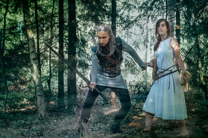 Swordsman And Maiden Free Public Domain Cc0 Image