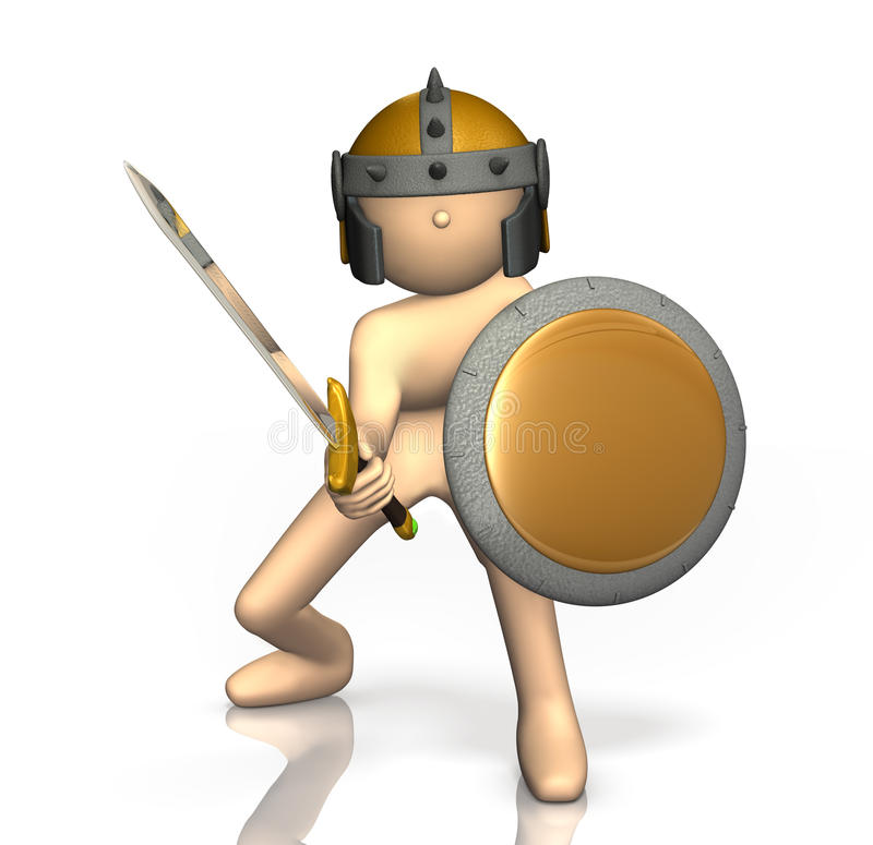 Download Swordsman Takes Up The Sword. Stock Illustration - Image: 29885874