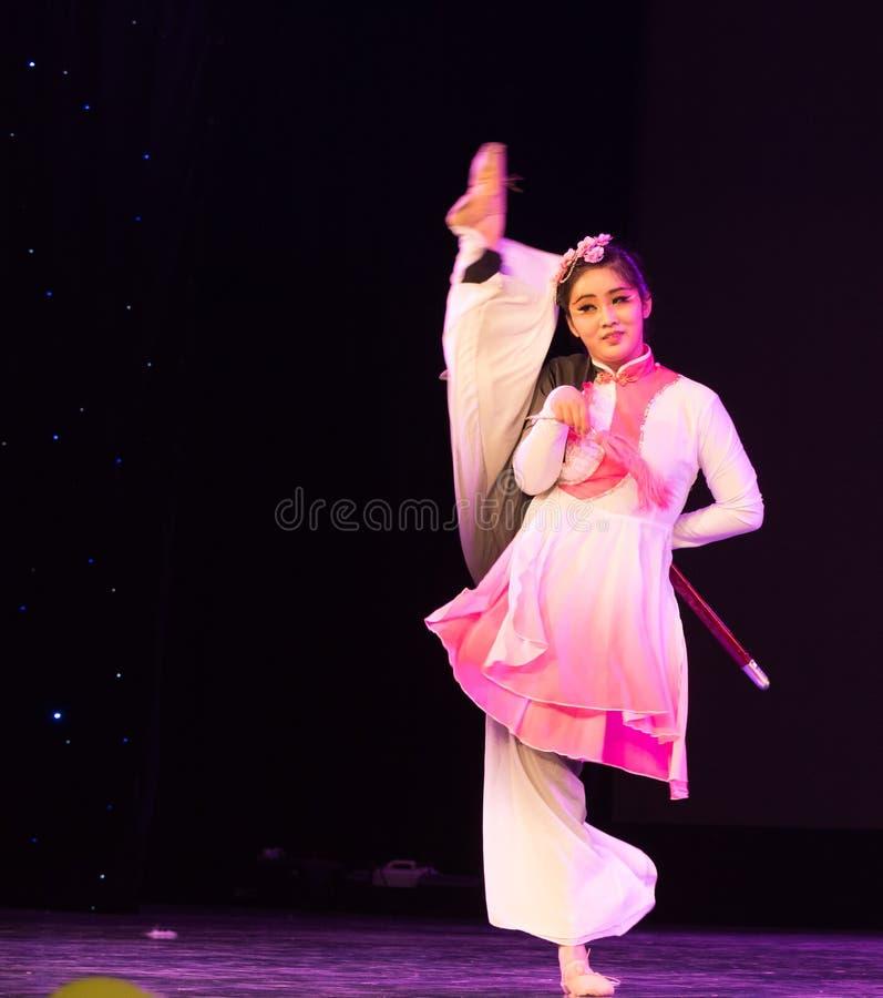 Swordsmanship dance-Chinese folk dance stock images