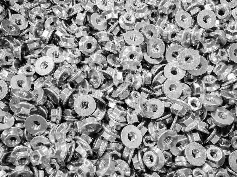Sworzniowych dokrętek wzór jako abstrakcjonistyczny przemysłowy tło fotografia stock