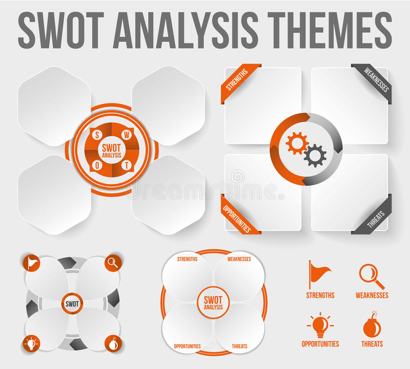 SWOT Analysethema's royalty-vrije illustratie