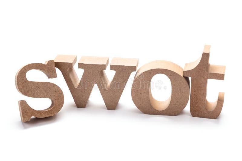 SWOT drewna listy zdjęcie stock