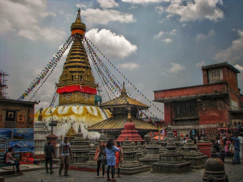 SwoyambhuNath Stupa arkivbilder