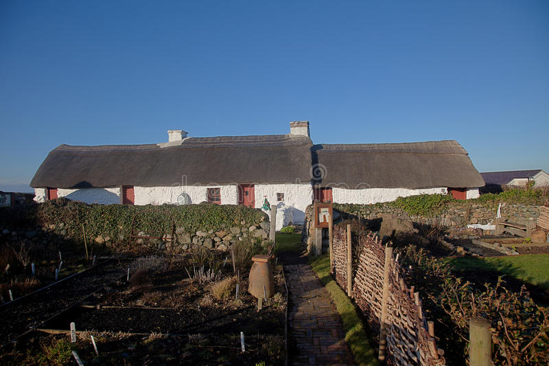 Download Swtan Th Eonly Thatched Building On Anglesey Stock Photo - Image: 23220814