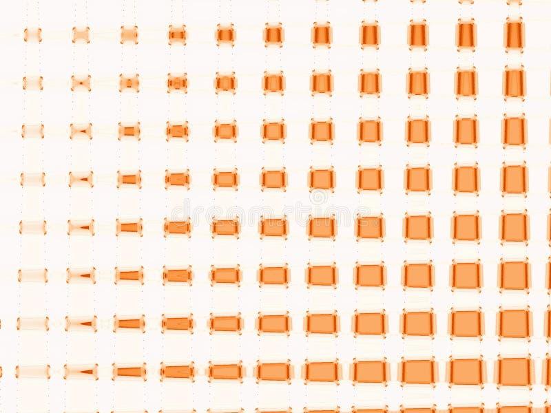 Swuared anaranjado stock de ilustración
