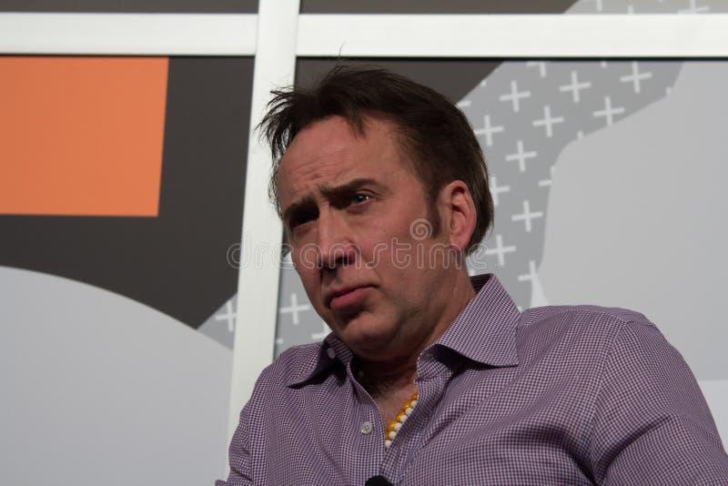 SXSW的尼可拉斯凯吉2014年 免版税库存图片