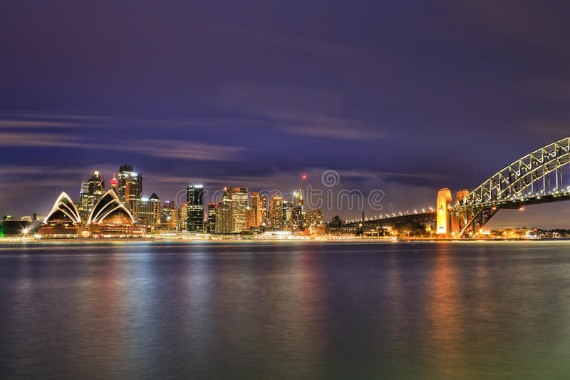 SY CBD Kirribilli Dark with Bridge royalty free stock photo