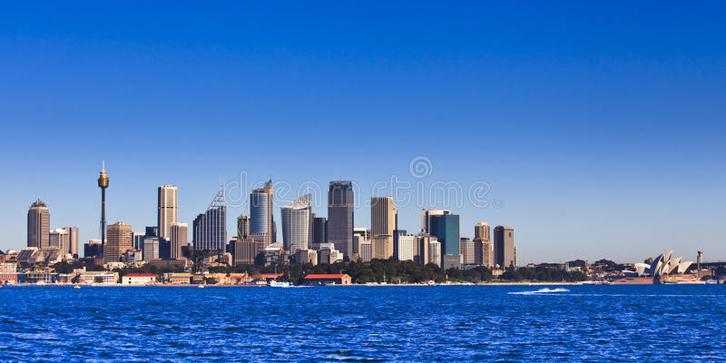 Download Sy City Day Pan From Ferry stock image. Image of australia - 26630273