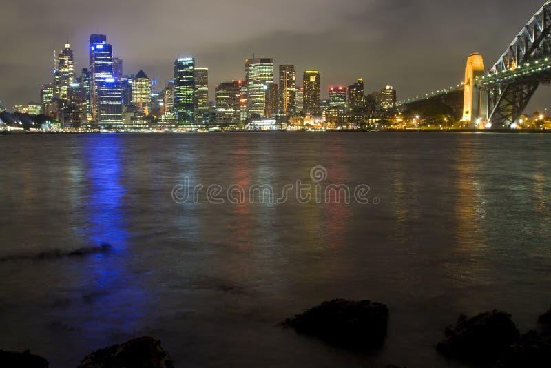 Sy City Milsons Night Royalty Free Stock Photos