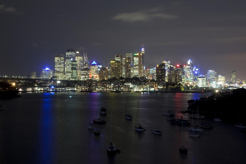 Download Sy City Wavert Bay Yacht Night Stock Photo - Image: 13567130