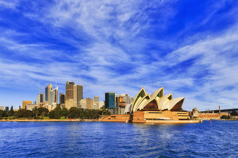 Sy cityline from ferry royalty free stock image