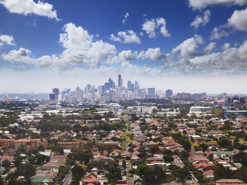 Sy Heli CBD Suburbs stock photography