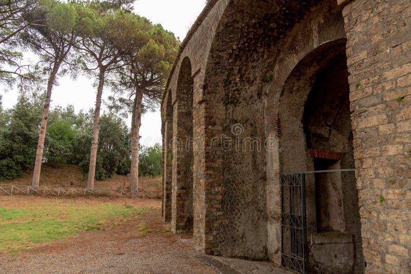 Pompei fence. Stone stock photos