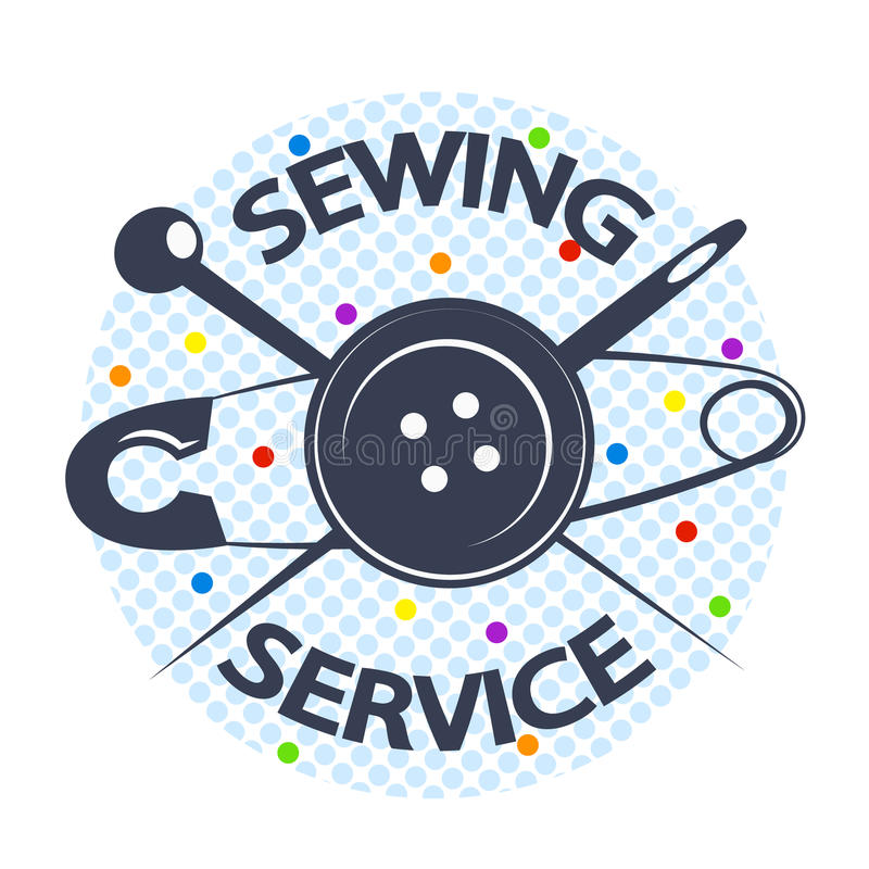 Sy service med en visare och en knapp royaltyfri illustrationer
