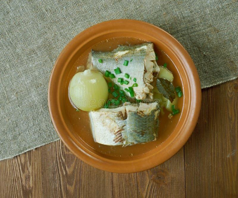 Syberyjska rybia polewka omul zdjęcie royalty free