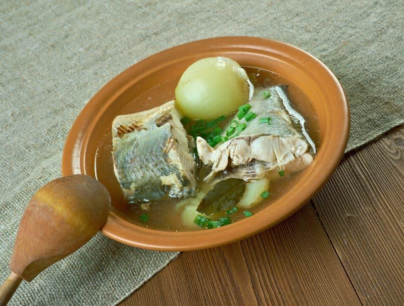 Syberyjska rybia polewka omul obrazy royalty free