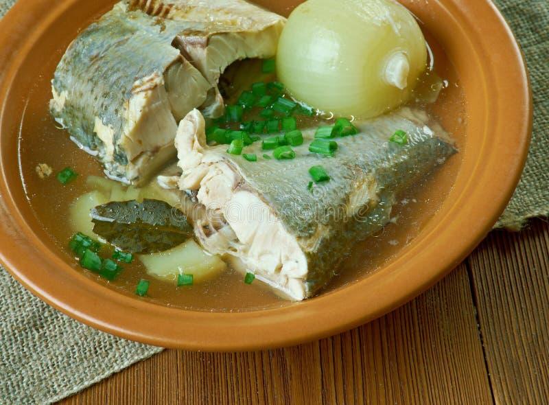 Syberyjska rybia polewka omul zdjęcia royalty free