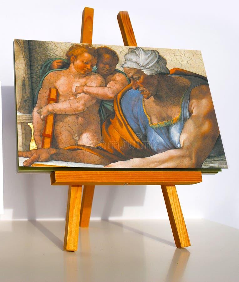 Sybil Cumaean dell'affresco di Michelangelo fotografia stock libera da diritti