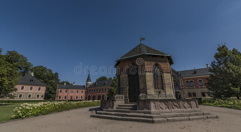 Sychrov castle in north Bohemia in sunny day. Sychrov castle in north Bohemia in sunny summer day stock image