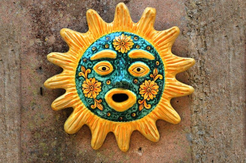 Sycylijska słońce twarz ceramiczny zdjęcia stock