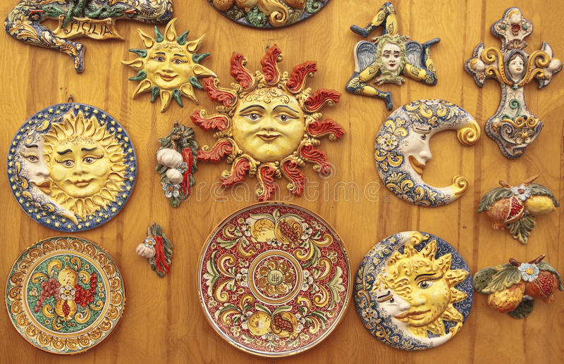 Sycylijski ceramics fotografia stock