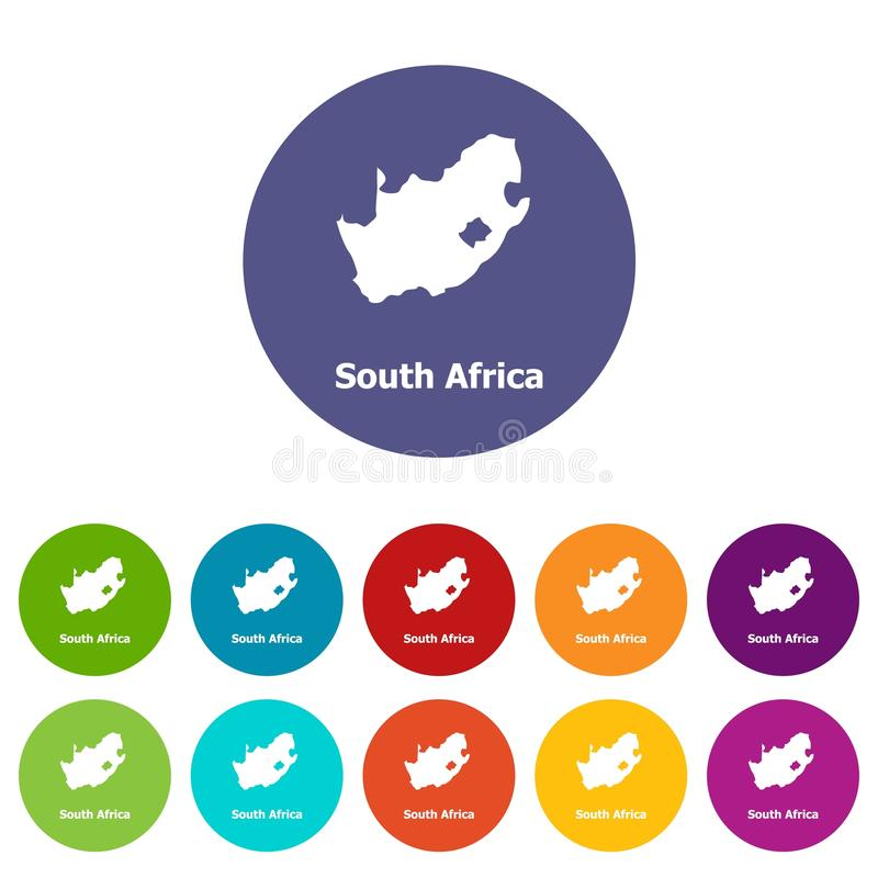 Sydafrika översiktssymbol, enkel stil vektor illustrationer