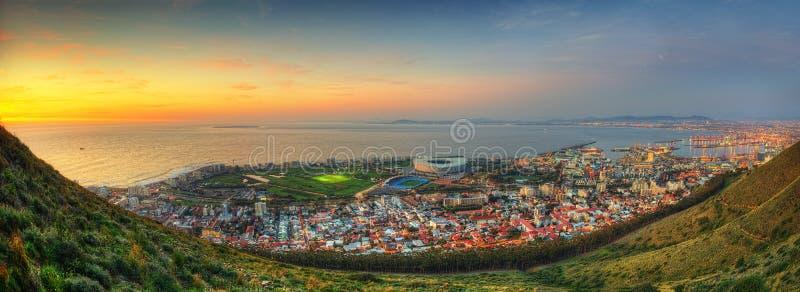 Sydafrika Capetown horisont royaltyfri bild