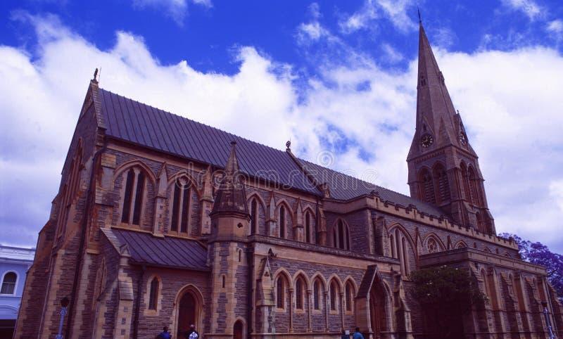 Sydafrika: Den historiska kyrkan i Grahamstown fotografering för bildbyråer