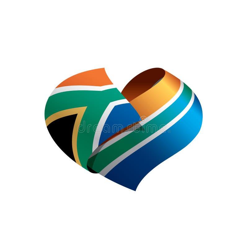 Sydafrika flagga, vektorillustration stock illustrationer