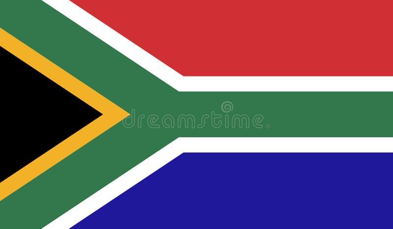 Sydafrika flaggabild vektor illustrationer