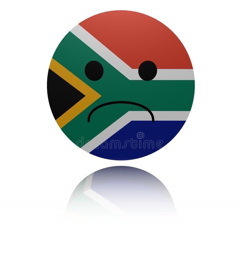 Sydafrika ledsen symbol med reflexionsillustrationen royaltyfri illustrationer