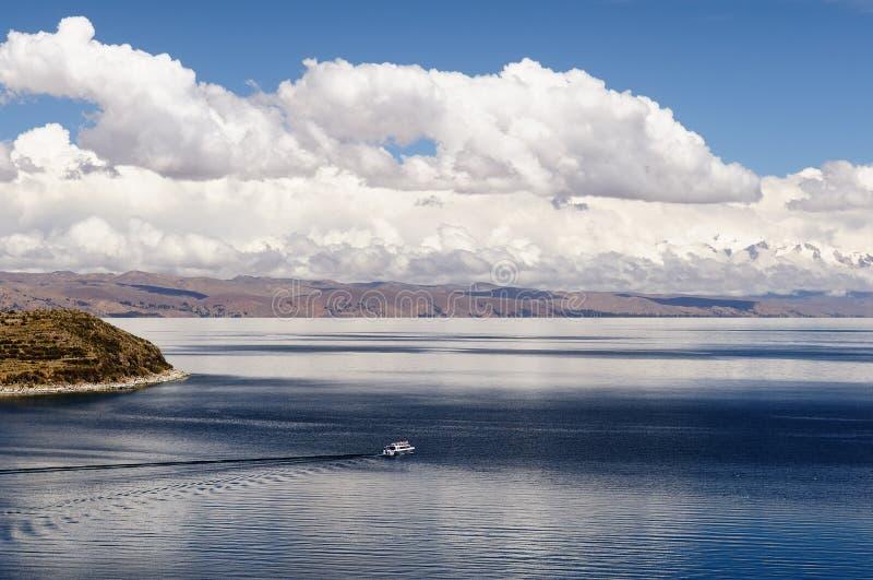 Sydamerika Titicaca sjö, Bolivia, Isla del Sol landskap arkivbild