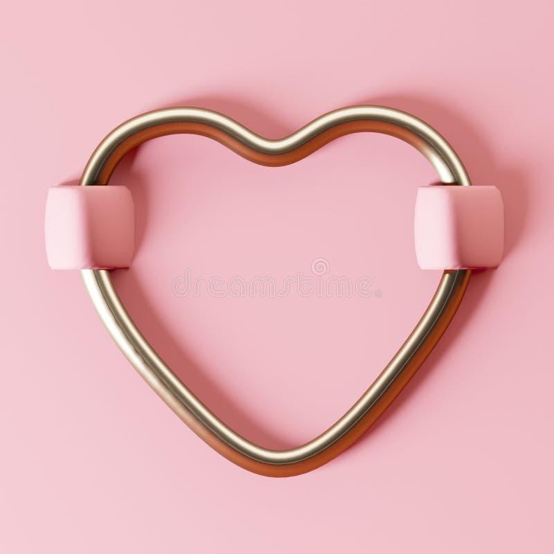 Sydd hjärta på rött sammettyg Valentin minsta begrepp för dag arkivfoton