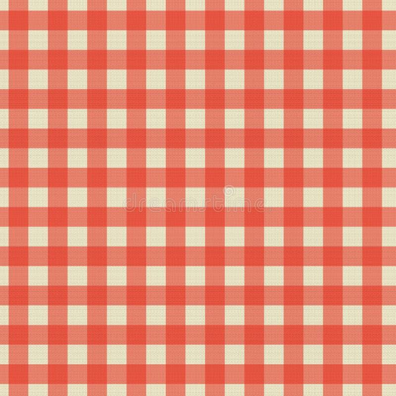 Sydd rutig tygtexturdesign med röd färg arkivfoton