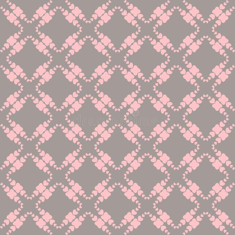 Sydde seamless mönstrar med hjärtor. vektor illustrationer